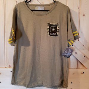 Army Tee with embroidered Patch pocket (XL)